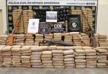 Drogas apreendidas em operação policial em Maraã