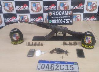 Homens são presos pela Rocam com fuzil e revólver na zona Oeste