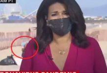 Mulher abaixa as calças e defeca durante reportagem ao vivo; veja o vídeo