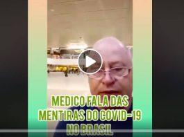 Médico distorce informações sobre a covid-19 em vídeo