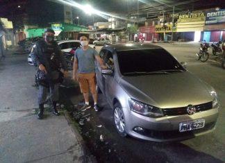 Policiais recuperam veículo de aplicativo roubado no bairro Mutirão
