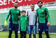 Inter, Flu e outros clubes lamentam morte do pai de Alisson e Muriel