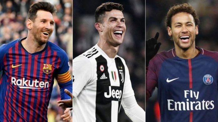 Jornal diz que presidente do PSG quer Ronaldo, Messi e Neymar no time