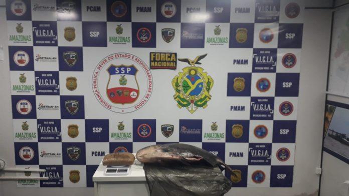Base Arpão apreende tambaqui recheado com 1,5 quilo de cocaína