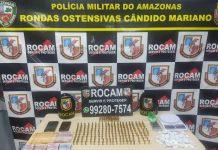 Trio é preso com 247 munições no bairro Novo Aleixo