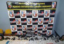 Rocam apreende 68 armas de fogo e detém 64 pessoas no mês de abril