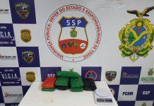 Base Arpão prende cinco homens traficando drogas de Tabatinga para Manaus